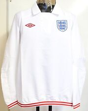 ENGLAND WHITE FOOTBALL ICON DRILL TOP BY UMBRO ADULTS SIZE MEDIUM BRAND NEW
