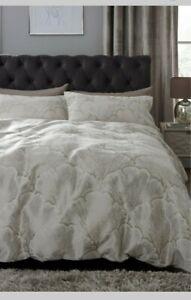 Next Jacquard Ginko Leaf Single Bed Set Bedding Duvet Cover RRP £40