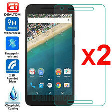 2Pcs 9H Premium Real Tempered Glass Film Screen Protector For LG Google Nexus 5X