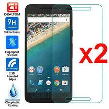 2Pcs 9H Premium Real Tempered Glass Film Screen Protector For LG Google Nexus 5X
