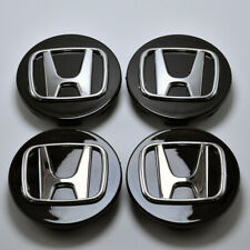 4x/Set Black Wheel Emblem Hub Center Cap Badge For Honda² Civic Accord CRV 69mm