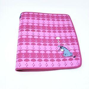 DISNEY Winnie The Pooh 3 Ring Binder Eeyore Zippered Pink