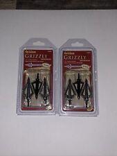 Allen Three Blade Grizzly Broadhead 1-3/16 Cutting Diameter 125 Grain 2 Pks
