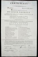 Certificaat 6% Russische Fondsen Amsterdam 1825 uncancelled + coupons