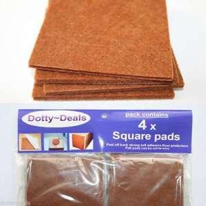 Felt Self Adhesive Pads Protects Wood Vinyl Laminate Floors Square Pack 4SQ