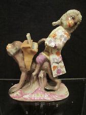 "Furstenberg Porcelain Monkey Band Figure  "" The Organ Player"" 18th C Very Rare"