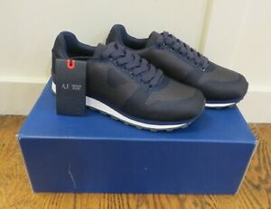 Armani Jeans Low Cut Blue Sneakers - *NEW WITH BOX* - Multiple Sizes