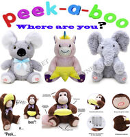 PEEK A BOO WHERE ARE YOU Singing Moving Talking PLUSH Cuddly Soft Toy Teddy Kids