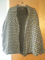 Wrangler Flannel Plaid Jacket Shirt with Lining 2XL