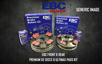 NEW EBC FRONT AND REAR BRAKE DISCS AND PADS KIT OE QUALITY REPLACE - PD40K298