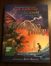 Percy Jackson & the Olympians: The Lightning Thief Illus. SIGNED Rick Riordan