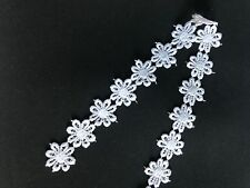 lace trim sewing finishing white color flower
