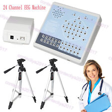 CE Digital 24 Channel EEG&Mapping System Machine KT88-2400,PC Software,2 Tripods