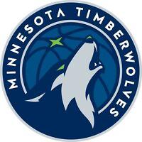 Minnesota Timberwolves NBA Color Cut Vinyl Decal Sticker Choose Size cornhole