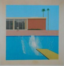 A BIGGER SPLASH - DAVID HOCKNEY -  VINTAGE PRINT   IVORY MOUNT 10 x 10 - STUNNIN