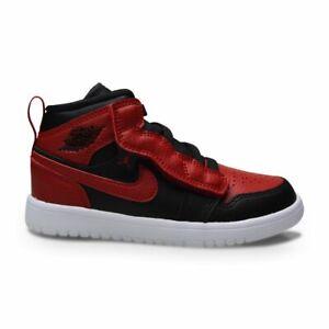 Kids Nike Jordan 1 Mid ALT (PS) - AR6351 074 - Black Gym Red-White