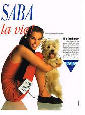PUBLICITE ADVERTISING 064  1988  SABA   le baladeur