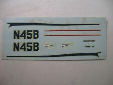 VINTAGE AURORA 1/88 BEECHCRAFT SUPER 18  #284 kit decal sheet