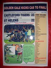Castleford Tigers 23 St Helens 22 - 2017 Super League semi - souvenir print