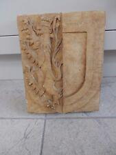 ART DECO  WW2 ERA - CARVED STONE ( PORTLAND ?) Arms of Baliol college Oxford