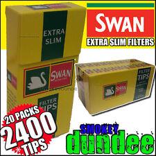 2400 SWAN EXTRA SLIM CIGARETTE FILTER TIPS - 20 PACKS