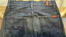 7 FOR ALL MANKIND WOMENS BOOTCUT HIGH WAIST MADE IN USA JEANS SZ (26W×29.5L) EUC
