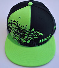 New Era Cap Hat Panel Pop Fitted Incredible Hulk Super Hero 59FIFTY 7 Green