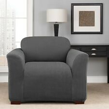 GREY  chevern  Chair sure fit slip cover surefit slipcover