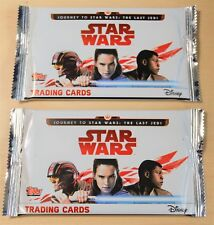 NEW 2 x SEALED PACKS - Topps Star Wars The Last Jedi  8 Cards Per Pack