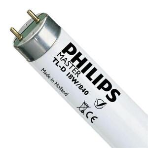 Philips T8 18w 2ft 600mm 840 Cool White 4000k Triphosphor Fluorescent Tube