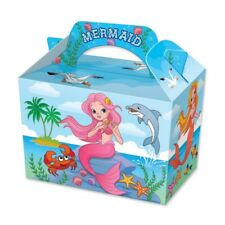 20 Mermaid Party Boxes - Food Loot Lunch Cardboard Gift Childrens Kids