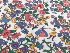 Novelty Fairy Tale Vintage Feed Sack Fabric Quilt Top Block Fabulous Pattern