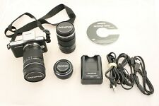 Olympus PEN E-PM1 12.3MP Digital Camera with 3 lenses and Accessories