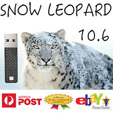 Snow Leopard 10.6 Mac OSX OS X USB re Install installation macbook replaces DVD