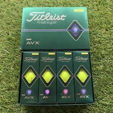 Titleist AVX Yellow Golf Balls 1 Dozen (12 Balls) New in Boxes