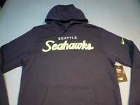 Nike Seattle Seahawks Script Scripture MEDIUM BRAND NEW Hoodie NFL Hawks