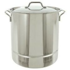Bayou Classic 16-Gal. Stainless Stockpot, Lid, 64-Qt. 1316 Stockpot NEW