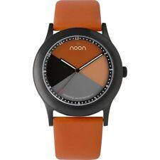 Noon Copenhagen 17018 Unisex Watch Orange Dial and Leather Strap 17-018