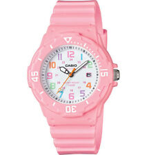Casio LRW200H-4B2V, Women's Analog Pink Resin Band, White Dial, Date