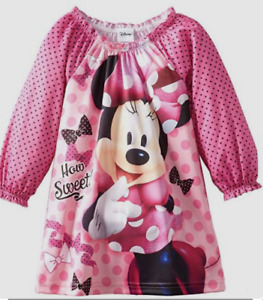 Disney Minnie Mouse Girls Pink Nightgown Pajama Size 3T