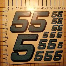 Carbon Fiber Cascade Blue #5's Racing Numbers Vinyl Decal Sheet 1/10-1/12 slash