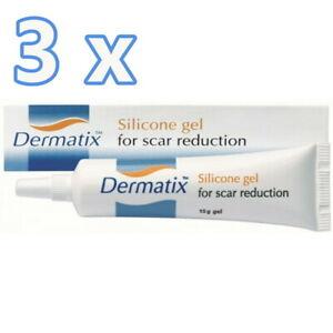 3 x NEW Dermatix Silicone Gel 15g for Scar Reduction