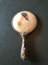 New listing Vintage Victorian Vanity Hand Mirror Woman Roses Portrait Mermaids Handle