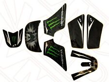 Yamaha PW50 PY50 Body Kit Plastic Sticker Graphic Set Kit Monster Energy Black