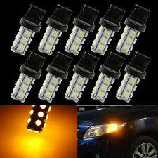 10x 7440 Yellow 18SMD 5050 LED Reverse Back Up Brake Stop Turn Tail Light Bulbs