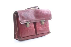 alte Aktentasche Ranzen Tasche Büro vintage rot Deko