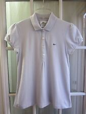 Authentic Lacoste Light Blue Cap Sleeve Polo Shirt Women 34 **Excellent**