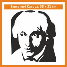 IMMANUEL KANT Wandtatoo, ca. 35 x 31 cm, Hochleistungsfolie mit Montagepapier