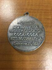 Coca Cola 1968 Round Bar Coin Token Fob Keyring (Los Angeles or Louisiana?)