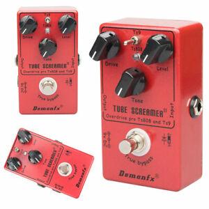 Demonfx Tube Screamer TS9 TS808 Overdrive Guitar Bass Effect Pedal Upgraded UK